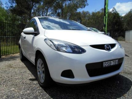 2010 Mazda 2 DE10Y1 Neo Crystal White Pearl 4 Speed Automatic Hatchback
