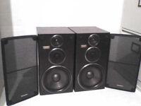 100W Technics CH900 3 Way Stereo Speakers - Heathrow