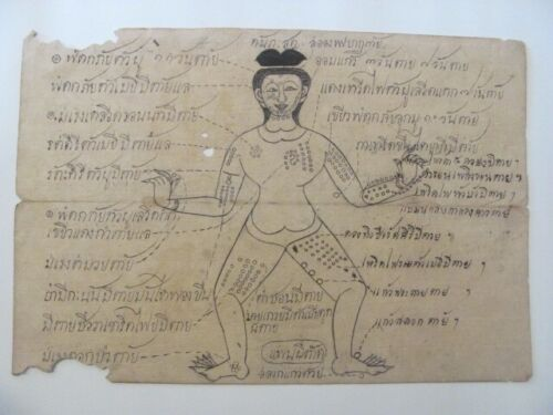 Antique Thai Medical / Samut Khoi Paper Diagram