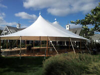 Crossback Chairs - Gold Cutlery - Rustic Decor - Tent rentals
