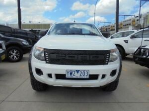 2012 Ford Ranger PX XL Hi-Rider White Auto Sports Mode 4D Utility