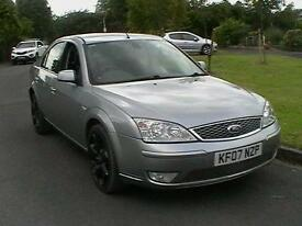 07 REG FORD MONDEO 2.5 V6 AUTOMATIC TITANIUM X 5 DOOR HATCHBACK IN SILVER
