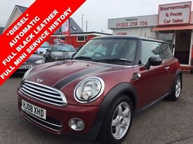 MINI HATCH COOPER 1.6 COOPER D 3d AUTO 108 BHP (red) 2008