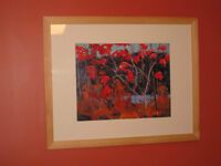 New, Professionally Matted Group of Seven Print (Tom Thomson)