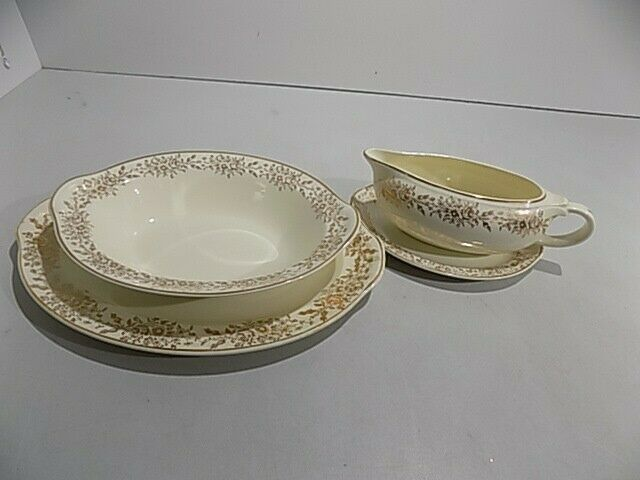 Vintage Taylor Smith Taylor Gold Floral Serving Sets