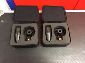 Pair of Shure PGA27 Microphones