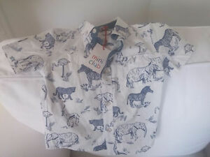 Gorgeous baby boys safari toddler shirt NEW with tags