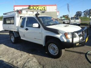 2010 Holden Colorado RC MY10.5 LX (4x4) White 5 Speed Manual Space Cab Chassis Sandgate Newcastle Area Preview