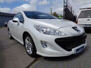 2010 Peugeot 308 CC S White 6 Speed Automatic Cabriolet Pooraka Salisbury Area Preview