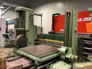 (USED) HORIZONTAL BORING MILL TOS W100A / 3.93