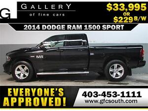 2014 DODGE RAM SPORT CREW *EVERYONE APPROVED* $0 DOWN $229/BW