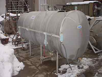 600 Gallon Horizontal Sanitary Stainless Steel Dual Compartment Tank Cip