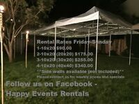 Canopy Tents, Party Tents - Pop up Tents - Weddings - Rentals