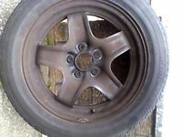 vauxhall zafira wheel and tyre