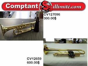 Trompettes de qualité chez Comptant illimite.com 819-566-3333