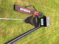 Fishing tackle equipment job lot rod, pole, tackle box fishing gear with umbrella