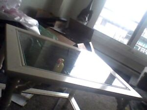 White Wood and Glass Coffee Table