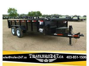 -*-*New 2017 16ft Tandem Axle Dump Trailer by SWS*-*-