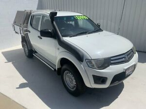 2014 Mitsubishi Triton MN MY15 GLX Double Cab White 5 Speed Manual Utility Mundingburra Townsville City Preview