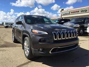 2016 Jeep Cherokee Limited, leather seats, 9 speed automatic