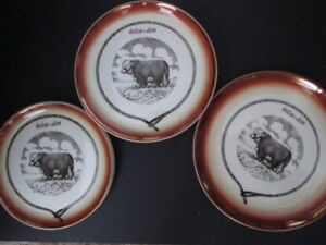 VINTAGE CANADIAN HYCROFT Medicine Hat Alberta POTTERY WITH COW
