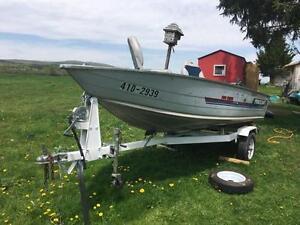 Bateau de pêche 14 pieds