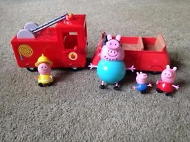 Peppa Pig car and fire engine