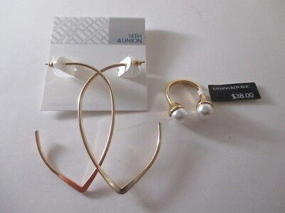 - Banana Republic Open Double Pearl Ring $38 6 Nordstrom Open Teardrop Earrings