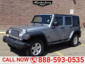 2014 Jeep Wrangler Unlimited 4WD SPORT  Accident Free,  Bluetoot