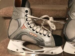 Easton Skates - Silver and Orange -> Men's Size 5.5