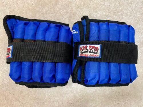 All Pro Contour Foam Ankle Weights Complete 2 Sets M20M 1-20 lb Adjustable each