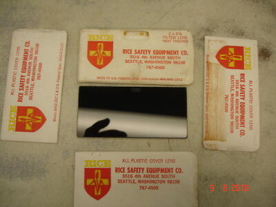 VINTAGE Welding 2 x 4 Lens Plastic Shade 10 RICE SAFETY AND COVER LENSES