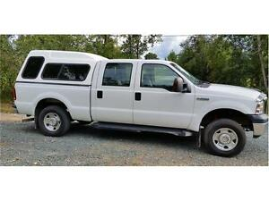 2006 FORD F250 4X4 ONLY 123,719 KMs XLT CREW CAB, Canopy $15,900