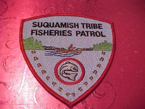 WASHINGTON TRIBAL SUQUAMISH FISH PATROL POLICE PATCH SHOULDER SIZE UNUSED