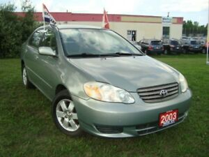 2003 Toyota Corolla CE Only 111km Accident & Rust Free Power Win