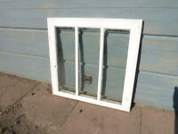 Antique Wood 3-Pane Window