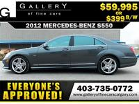 2012 Mercedes S550 4Matic $399 bi-weekly APPLY NOW DRIVE NOW