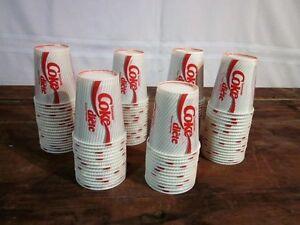 100 Vieux Verres de Carton Coke Diet NEUF