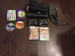 Xbox 360 with Kinect, 5 Games and 2 Controllers PRICE NEGOTIABLE