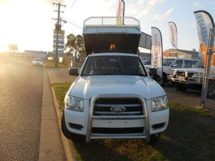 2008 Ford Ranger PK XL HIRIDER White 5 Speed Manual Trayback Garbutt Townsville City Preview