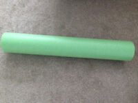 "Foam Back Muscle Massage roller green 36"" L and 6"" W. £5. B15 or B7. Slight damage at one end."