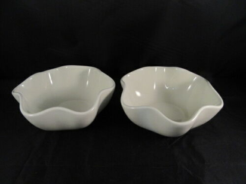 2 Southern Living at Home Gail Pittman Hospitality Scalloped Bowls Cream/Ivory
