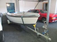 13ft bonwithco double skimmed fishing boat with trailer £799