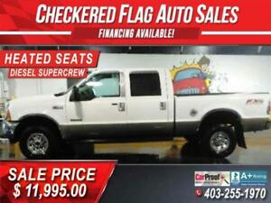 2004 Ford F350 LARIAT FX/4 DIESEL-SUPERCREW 4x4-LEATHER