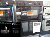 EX-DISPLAY BLACK HOTPOINT BUILT-IN DOUBLE OVEN REF: 11524