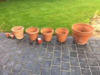 Selection of Terracotta Pots of varying sizes