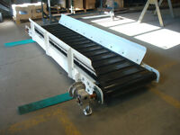 Cleated 9ft Slider Bed Conveyor
