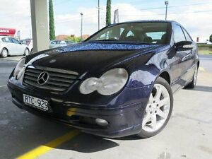 2001 Mercedes-Benz C200 Kompressor CL203 Blue 5 Speed Sports Automatic Coupe West Footscray Maribyrnong Area Preview