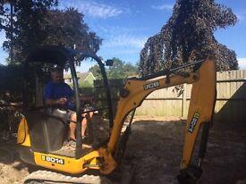 1.5 ton digger and driver hire