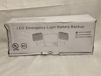 Lit-path Led Emergency Exit Lighting Fixtures W 2 Led Heads Back Up Batteries